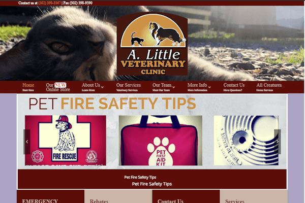 Alittle Vet Home Page Image
