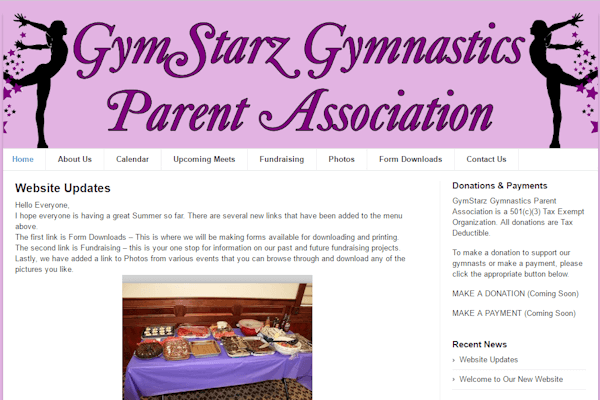 Gymstarz Home Page Image