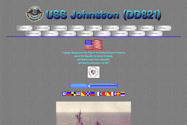 USS Johnston Home Page Image